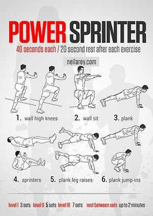 Sprinter workout schedule