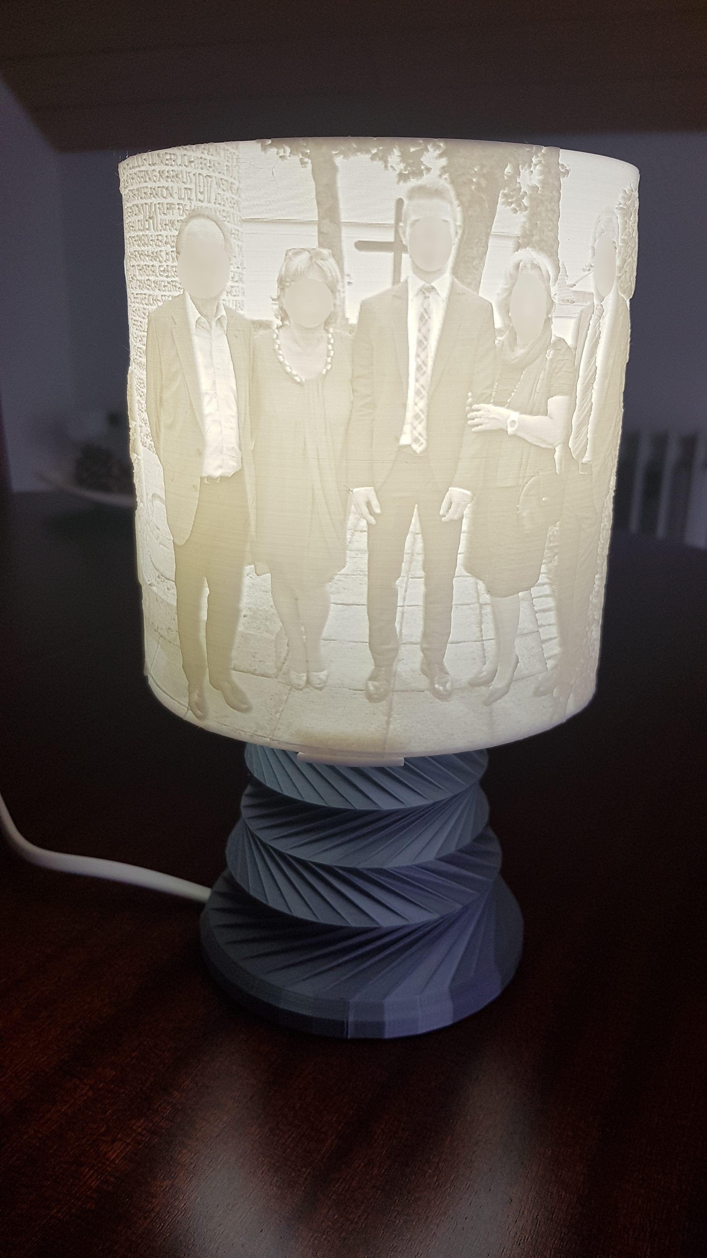 Lithophane Rgb Led Lamp Model Tutorial By Julien Dacosta Thingiverse Lamp Led Lamp Rgb Led