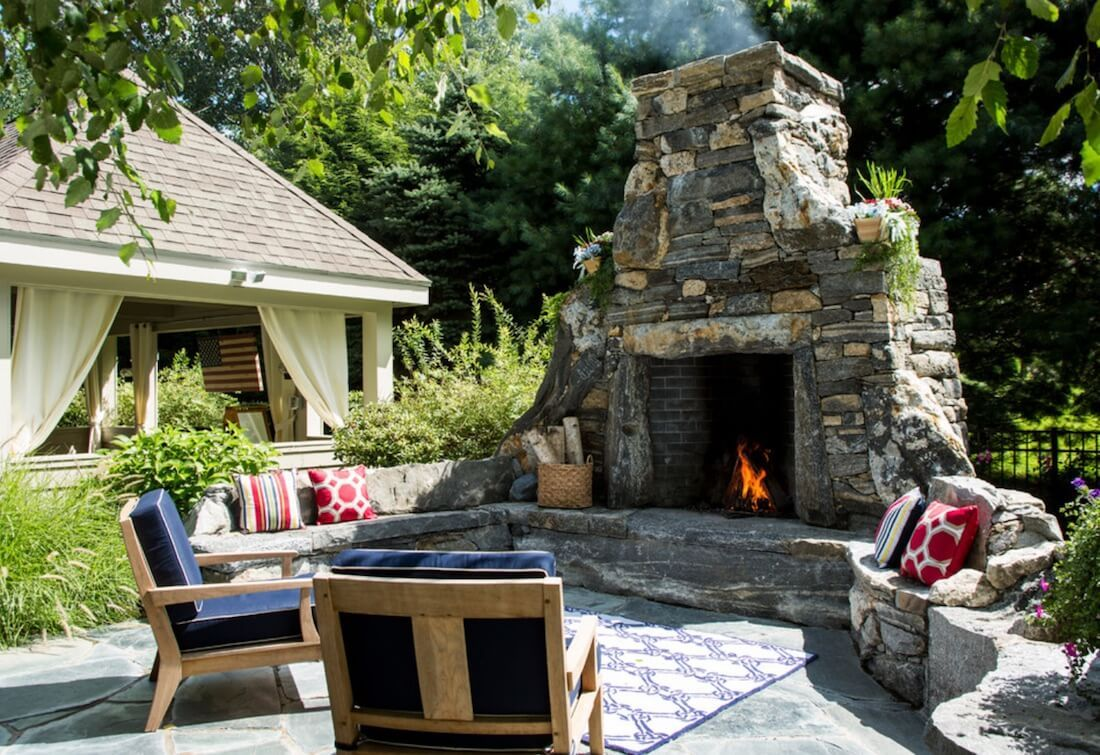 20 Of The Coolest Outdoor Fireplaces Outdoor Fireplace Outdoor