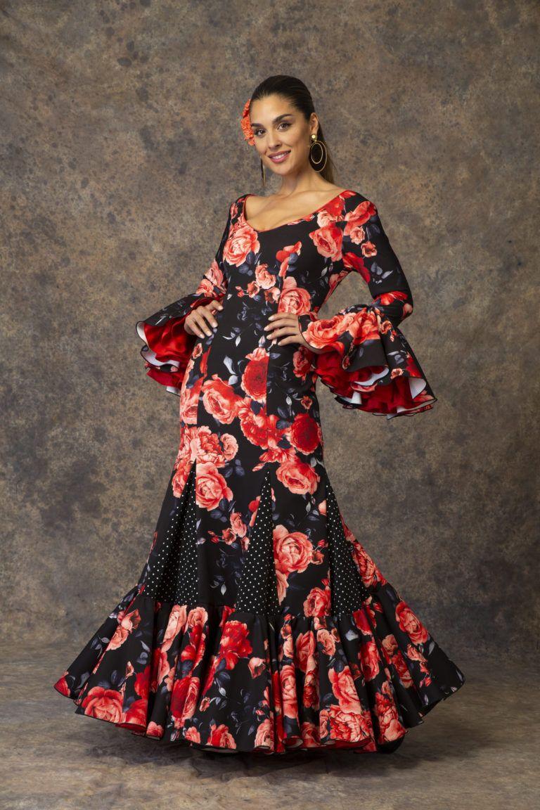 d712e61ef Traje de flamenca canastero de Aires de Feria 2019. Modelo Esencia ...
