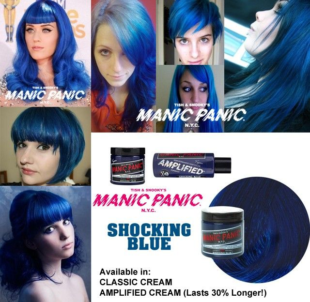 Manic Panic Shocking Blue Amplified Manic Panic Hair Color