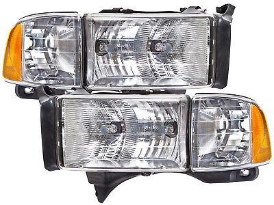Headlights 99 01 Dodge Ram Sport Headlights W Xenons Headlamps Dodge Ram Sport Ram Sport Dodge Ram 3500