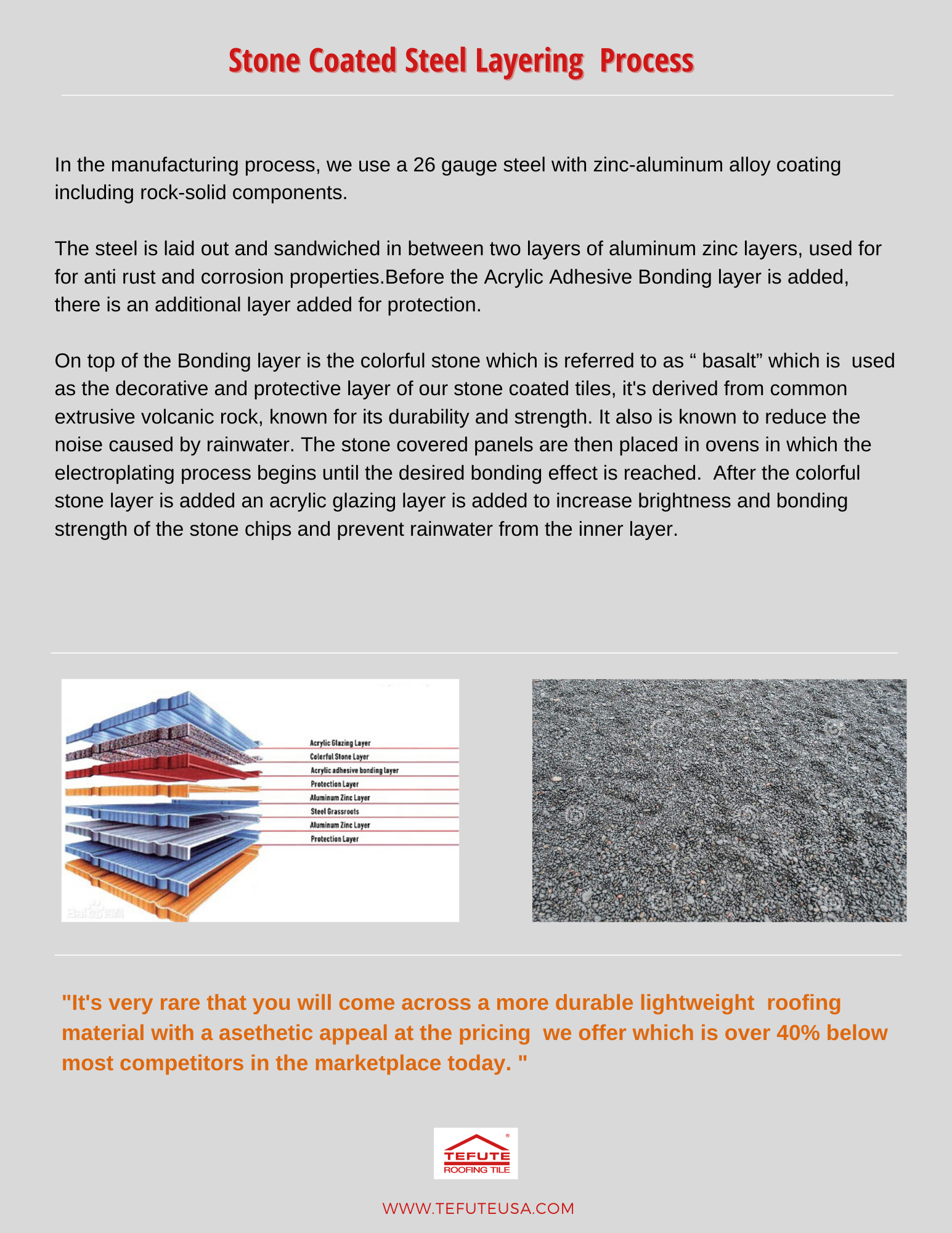 Stone Coated Steel Layering Process In 2020 Building Materials Manufactured Stone Acrylic Adhesive