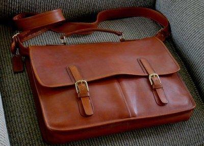 Vintage Coach Large Leather Laptop Briefcase Messenger Bag Cashin ...