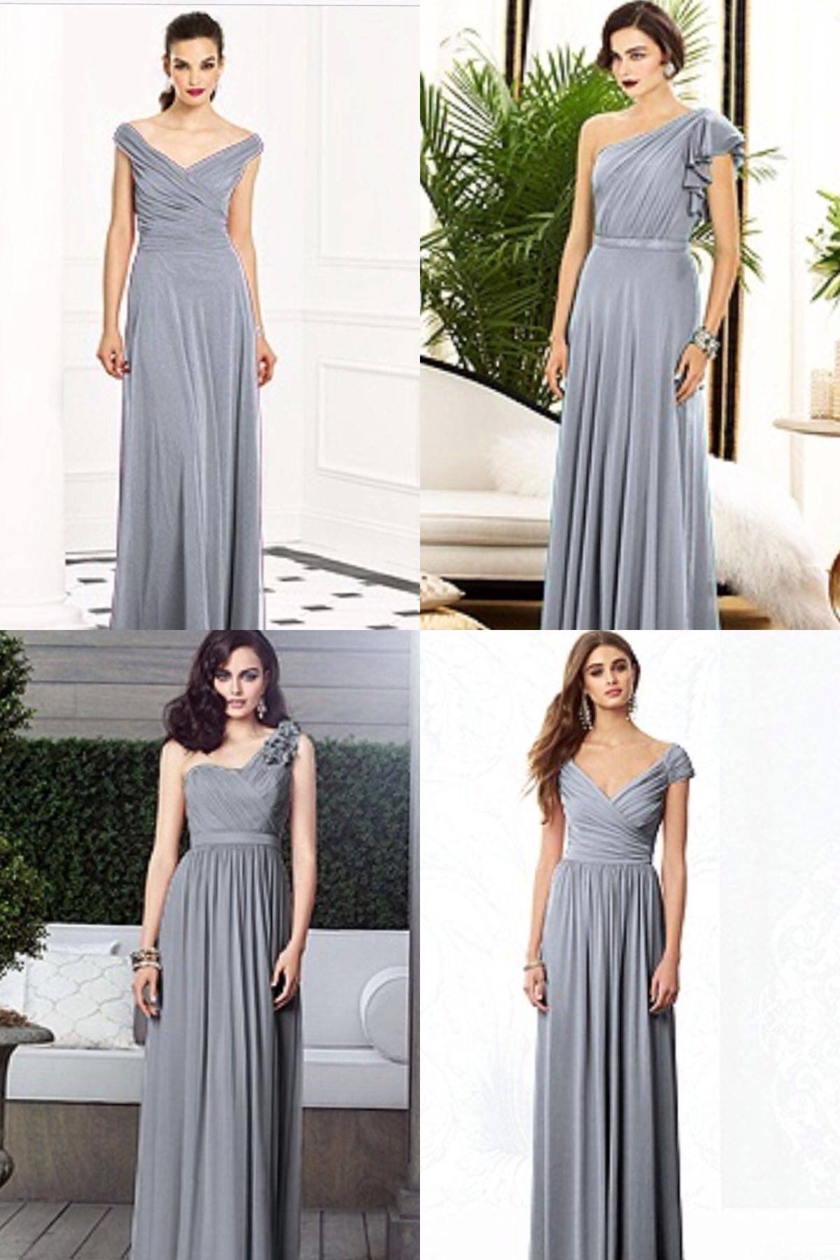Love these grey bridesmaid dresses different look for each girl grey bridesmaid dresses different look for each girl ombrellifo Choice Image