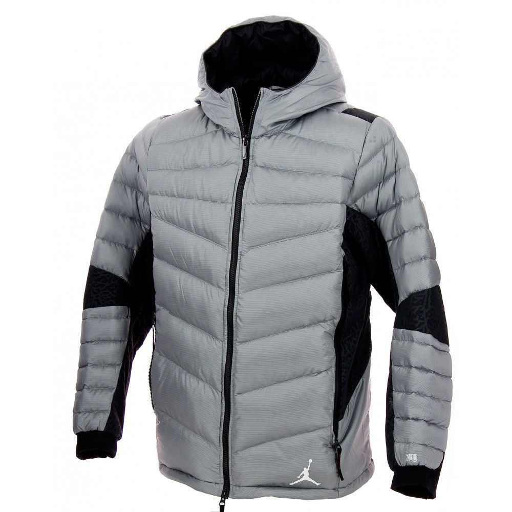 Nike jacket gray and black - Details About Nike Jordan Warm Winter Coat Jacket 700 Down Fill Insulation Hyperply 235 00