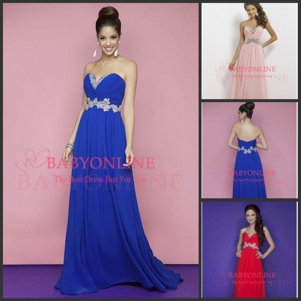 Special occasion dresses cheap sweetheart royal blue red pink
