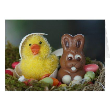 Cute happy easter card cute happy easter card happy easter egg holiday family diy custom personalize negle Gallery