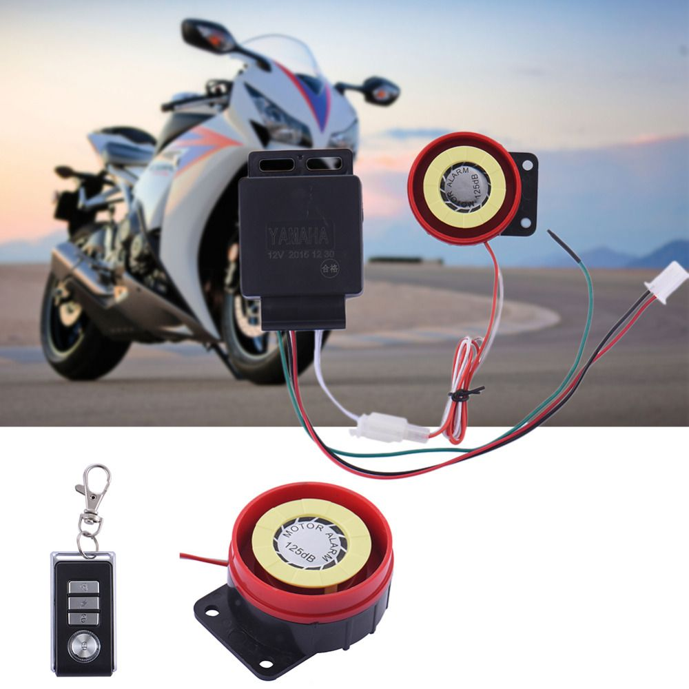 2016 Motorcycle Alarm System Anti Theft Security Remote Control Engine Start