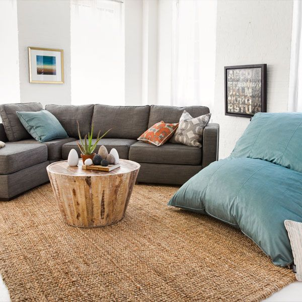 Tiffany Velvish Pillowsac And Chaise Sectional With Grey