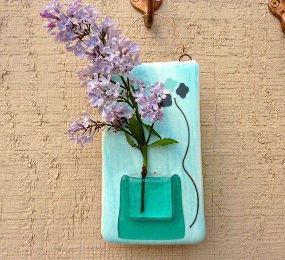 Glass Wall Pocket Vase By Bpr Designs On Etsy 1800 Pdx Etsy Pdx
