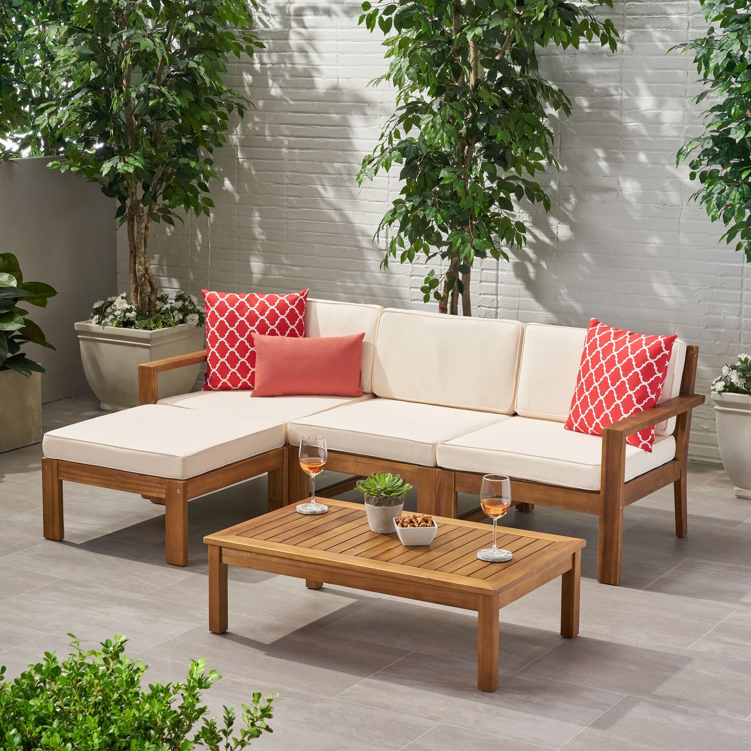 Patio Garden In 2020 Wood Sofa Sectional Sofa Christopher
