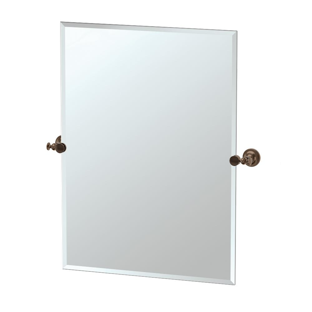 Gatco Tavern 32 In L X 28 In W Rectangle Wall Mirror Bronze