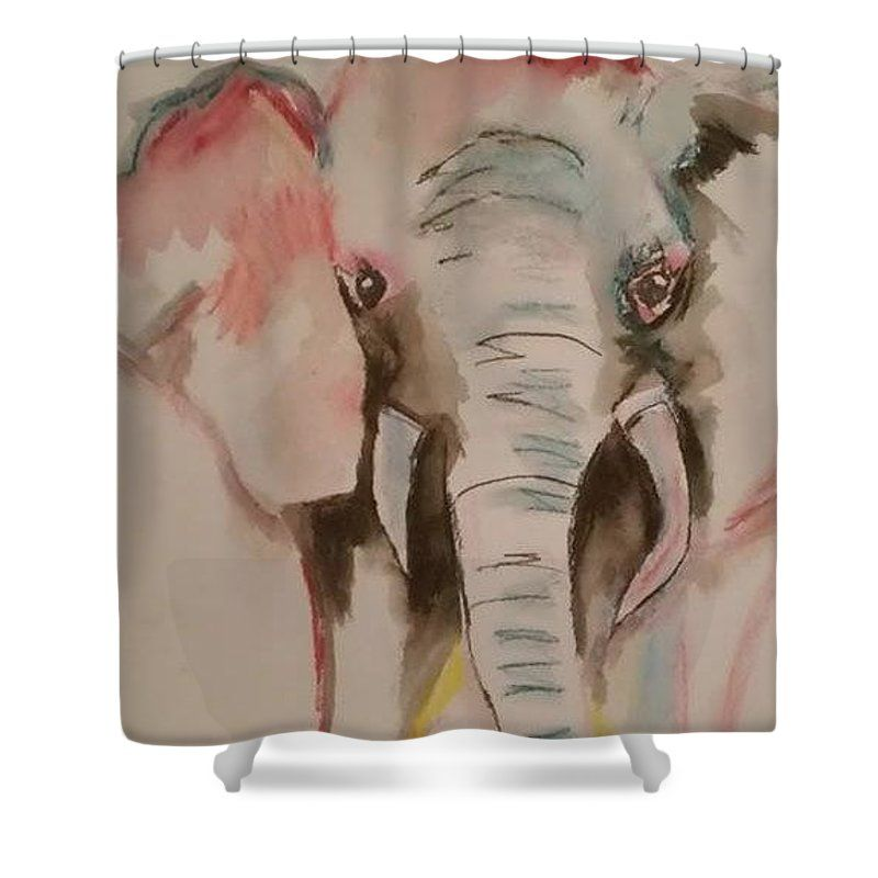 Ellie The Elephant Shower Curtain for Sale by Cindy Large | Elephant ...