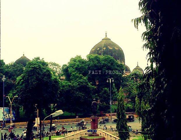 Beautiful View Of Msu Sandesh Circle Vadodara Baroda With