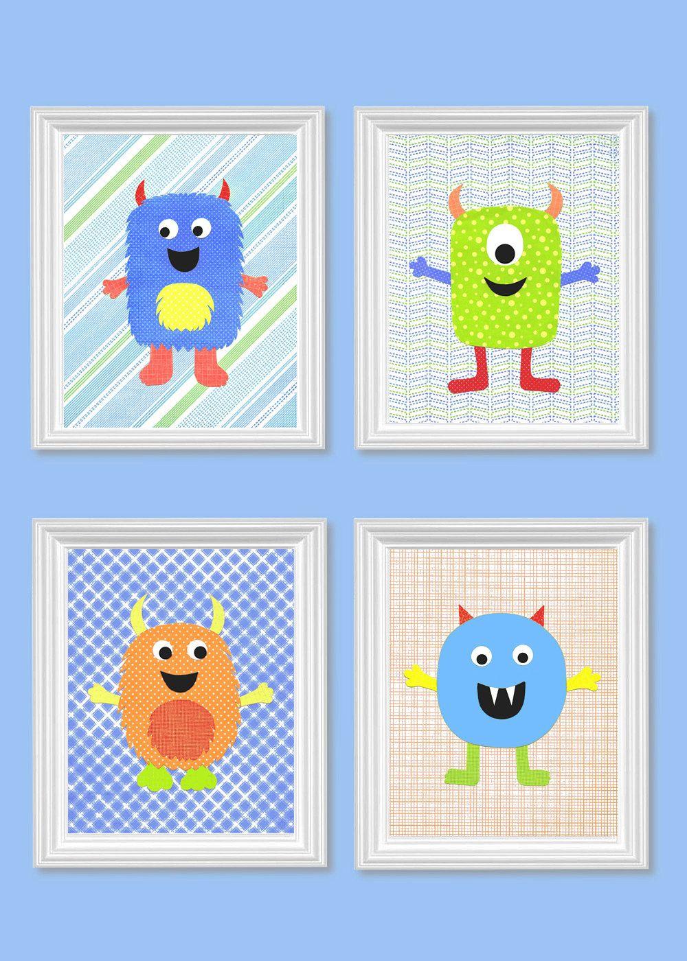 Https Www Etsy Es Listing 159804626 Monster Nursery Decor Neon Blue Green Ref Related 6