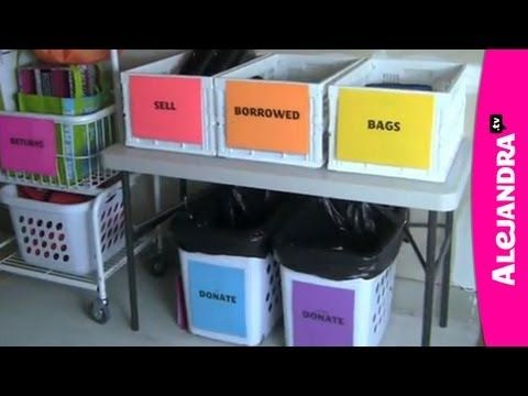 Video How To Organize Things That Are Leaving Your House Garage Sale Tips Garage Sale Organization Yard Sale Organization