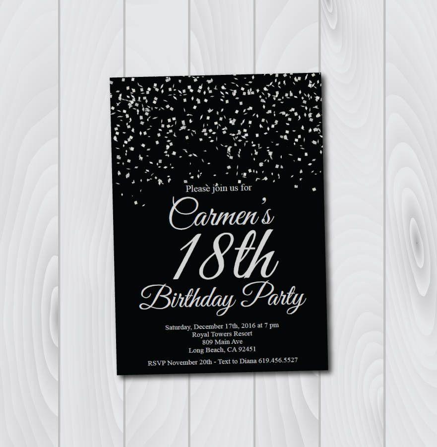 18th birthday invitation printable