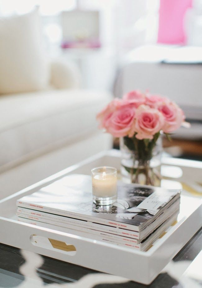 Tray Table Decor Ideas Entrancing Mix And Chic Home Tour A Fashion Blogger's Girly Chic Chicago Decorating Design
