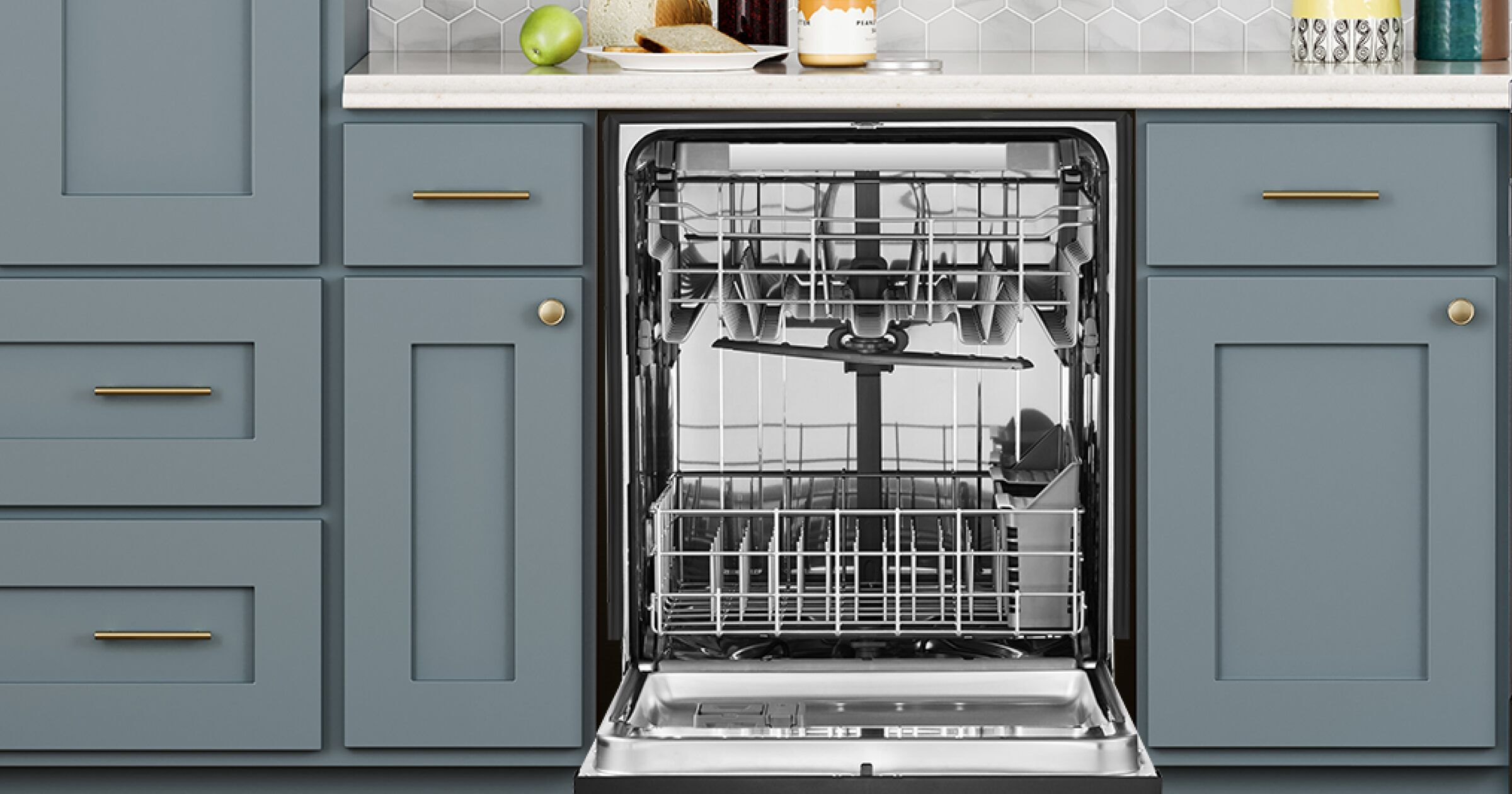 How To Clean A Dishwasher In 3 Easy Steps Whirlpool Clean Dishwasher Clean Microwave Dishwasher Cleaner