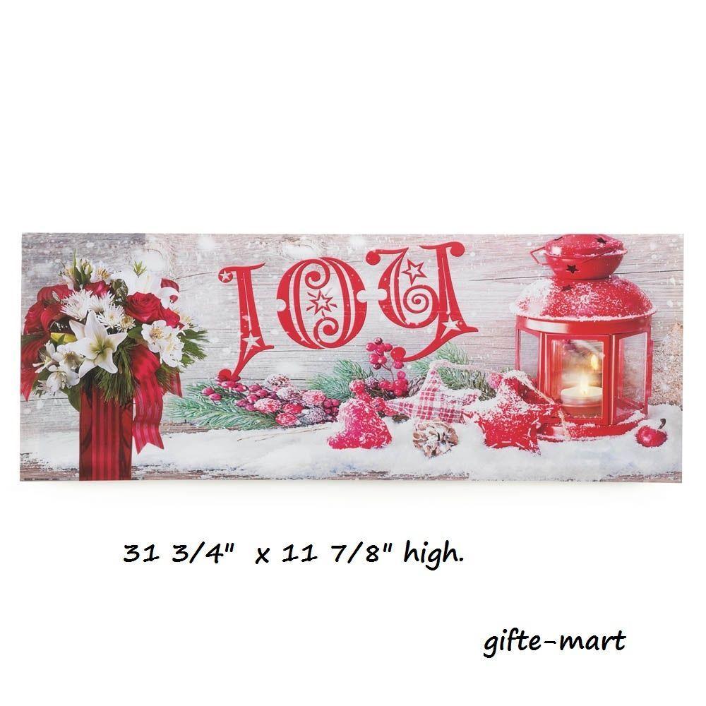 JOY CHRISTMAS welcome sign LED lighted flameless candle print wall hanging art night light lamp #genericchristmasholidaylightsdecoration #decorativeart