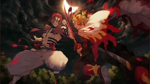   Save & Follow   Kyojuro Rengoku vs Akaza • Live Wallpaper • Demon Slayer • Kimetsu no Yaiba