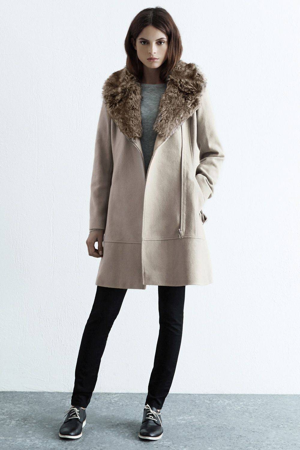 Luxe Fur Collar Coat Grey | ! ♥ Fashion......Love ♥ | Pinterest ...