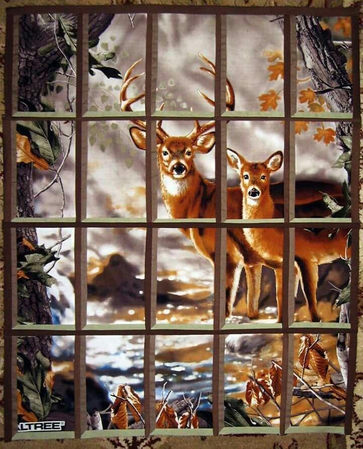 Window Pane Quilt : window, quilt, Attic, Window, Narrow, Panes, Wildlife, Quilts,, Quilt