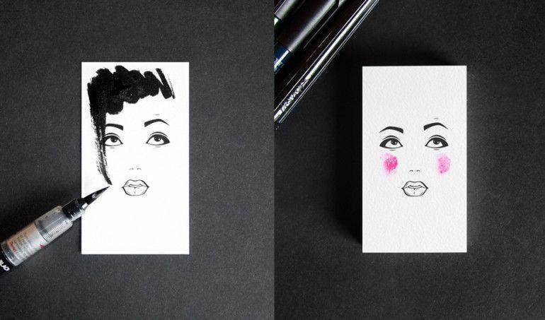 Unique Makeup Artist Business Cards - Masha Mashutina 3 | Business ...