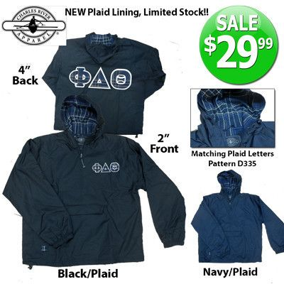 Exclusive Plaid Lined Fraternity Pullover Jacket with Twill ...