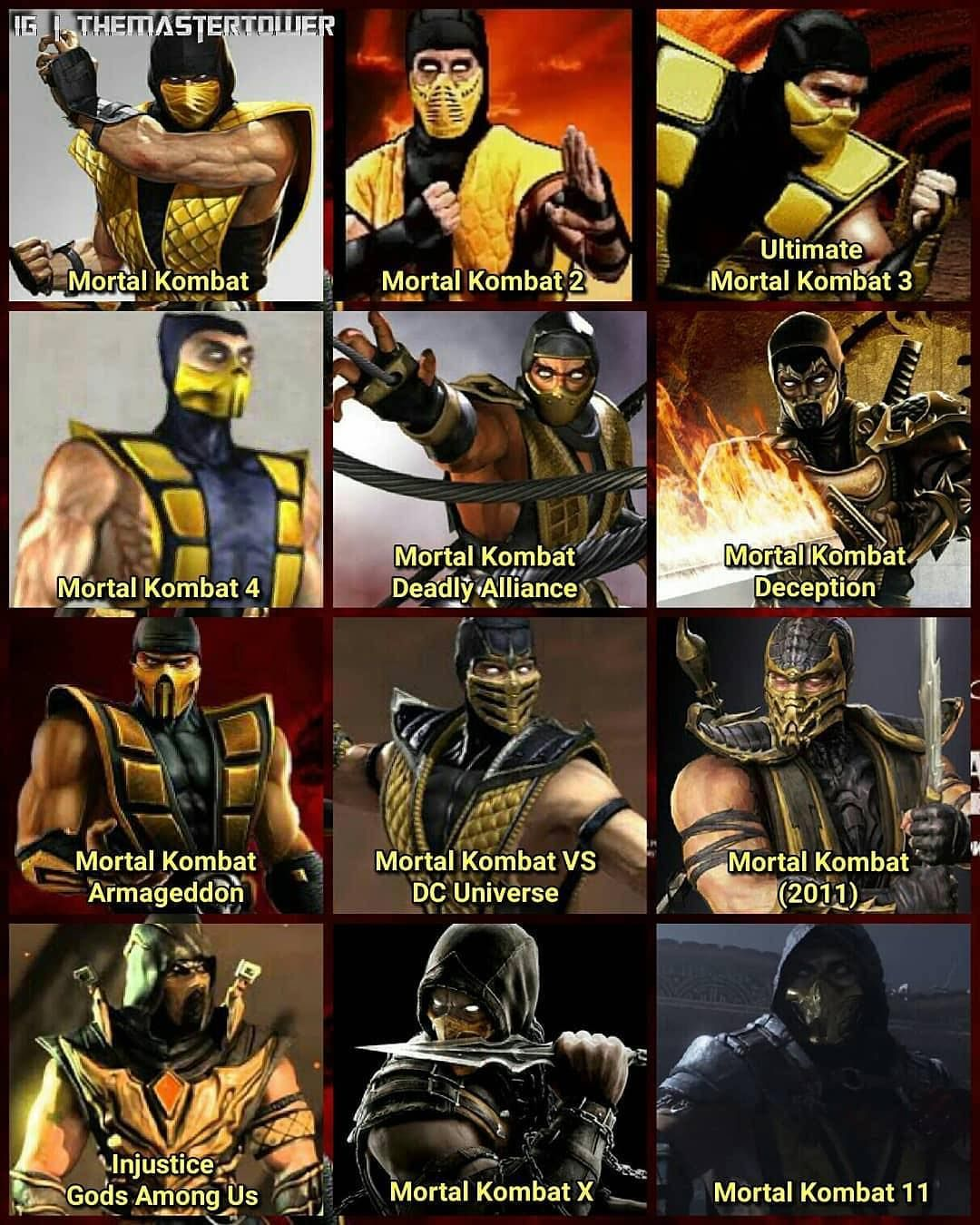 Finalround On Instagram Which Scorpion Costume Is Your Favorite Comment Down Below The Cost Scorpion Mortal Kombat Mortal Kombat Memes Mortal Kombat Art