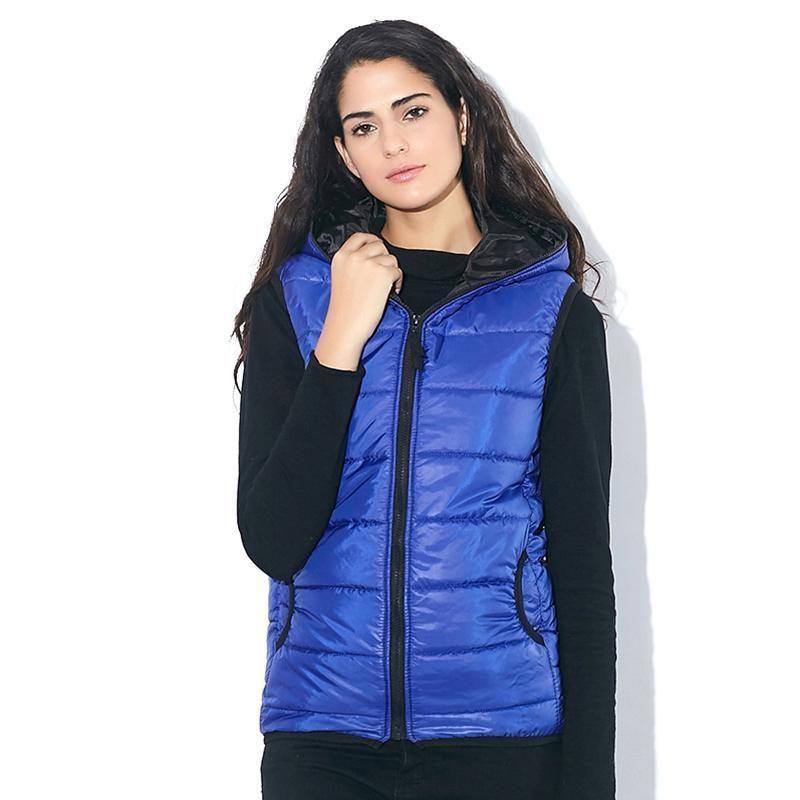 Women's Clothing High Quality 2018 Autumn Winter Shining Bright Cotton Women Vest Multi-color Hooded Sleeveless Jacket Winter Keep Warm Waistcoat Jackets & Coats