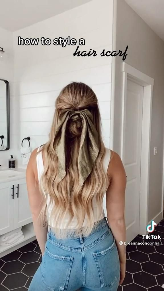 How To Style A Hair Scarf Video In 2021 Hair Styles Scarf Hairstyles Easy Curled Hairstyles