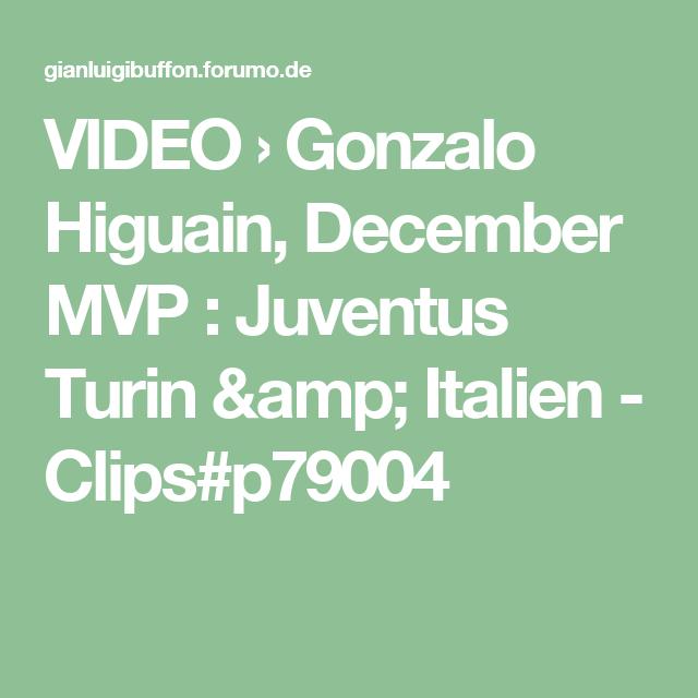 VIDEO › Gonzalo Higuain, December MVP : Juventus Turin & Italien - Clips#p79004