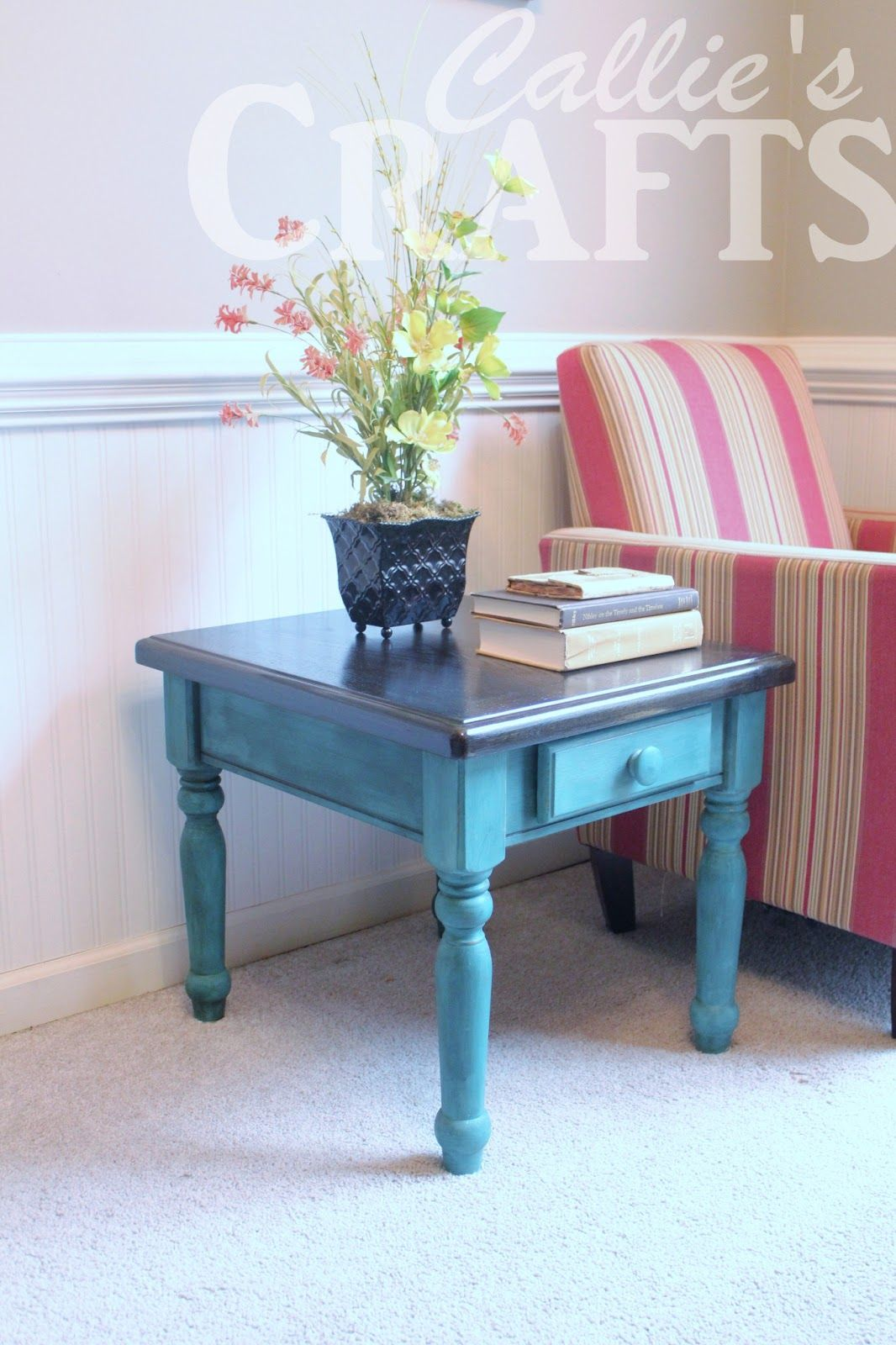 Chalk Paint End Table Share Your Craft Pinterest