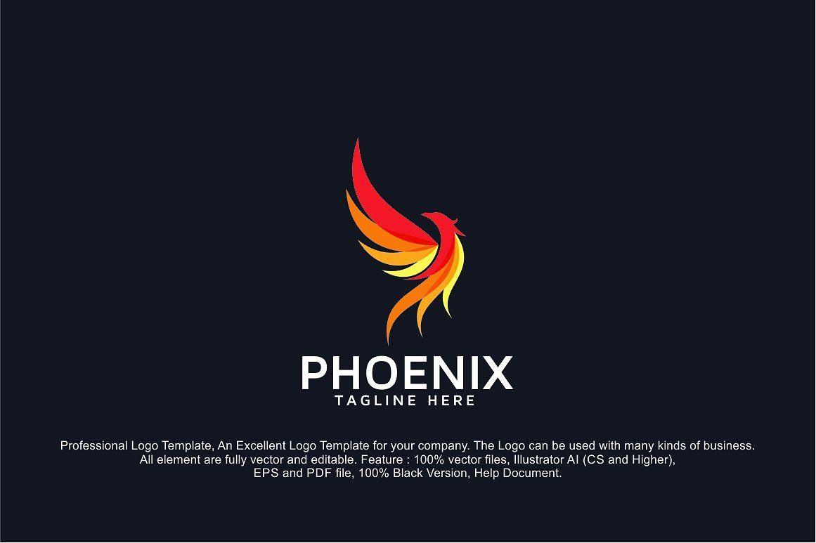 Phoenix Fire Bird Logo Template Bird Logo Design Bird Logos Phoenix Bird