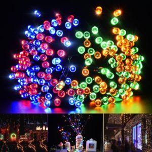 colored solar powered christmas lights