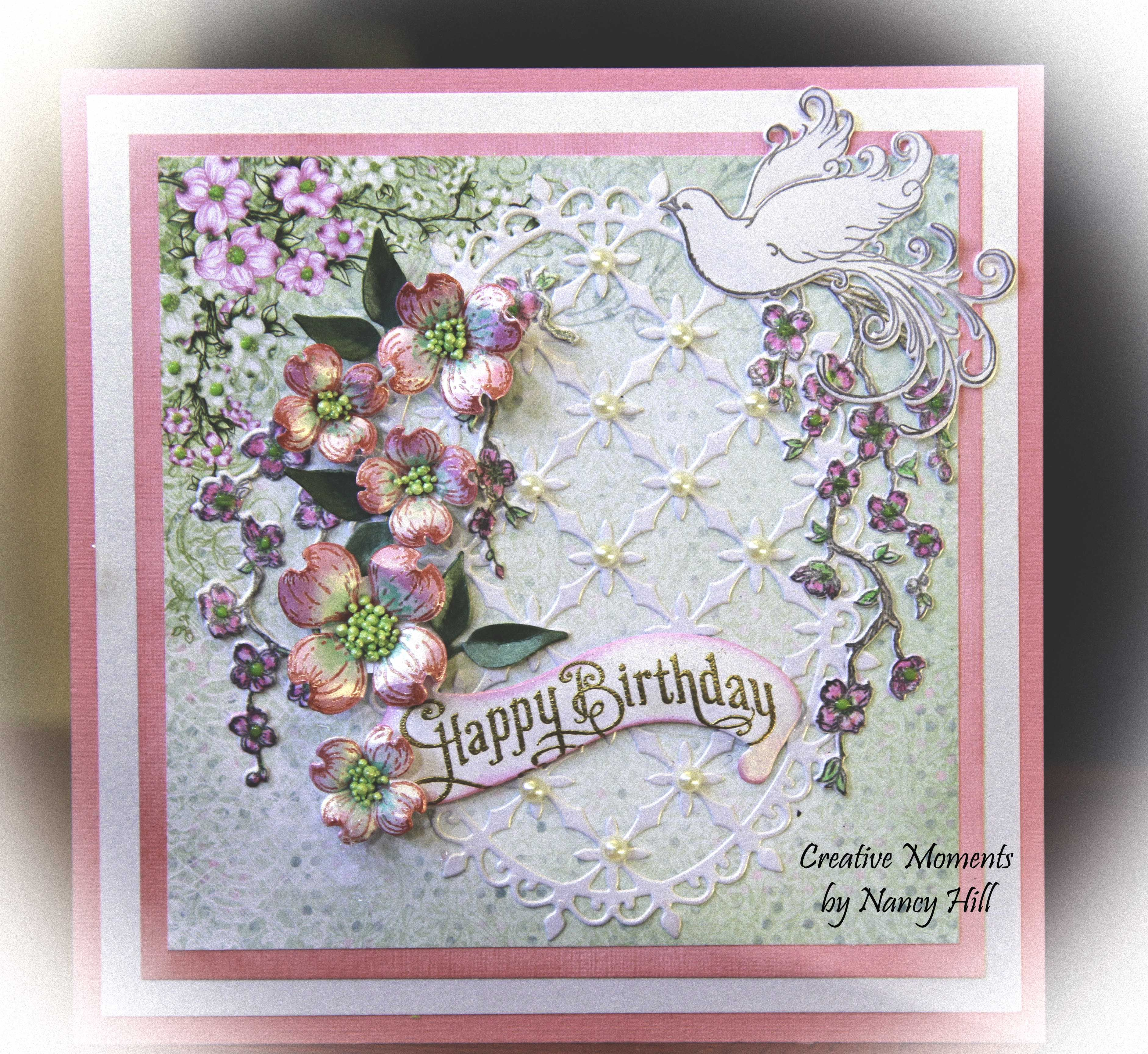 Heartfelt creations flowering dogwood happy birthday card