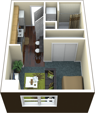400 sq ft apartment floor plan - Google Search | 400 sq ft ...