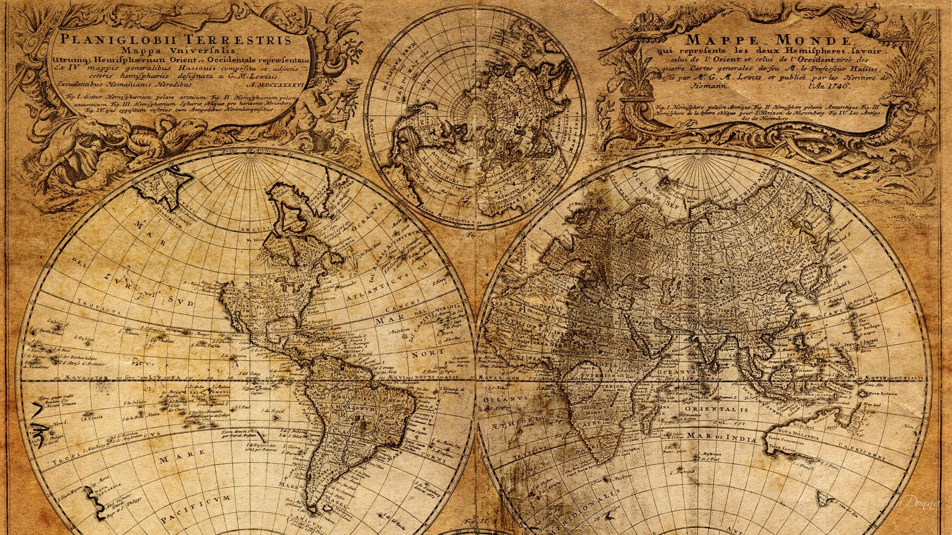 450 X 253 Old Map 1 Other Amp Abstract Background Wallpapers On Desktop .,  Antique World Map Wallpaper On HdWallpapers
