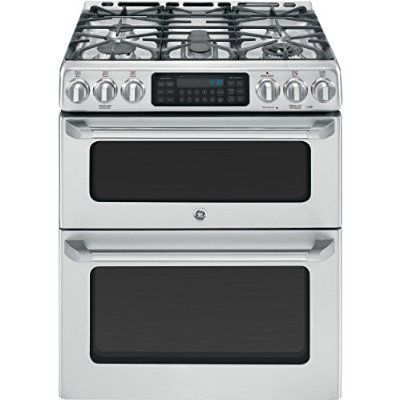 "GE Cafe CGS990SETSS 30"" Freestanding Gas Range with 5 Sealed Burners, Convection Self-Clean Double Oven and Griddle, in Stainless Steel"