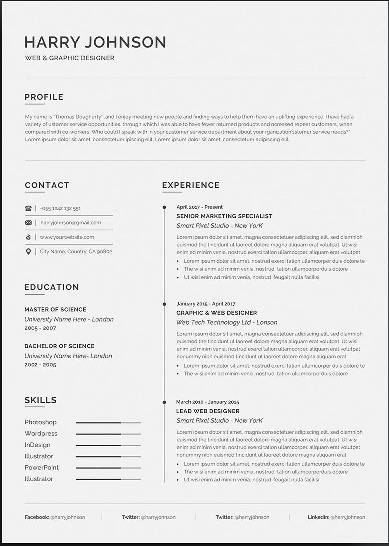 20+ Free And Premium Word Resume Templates [Download