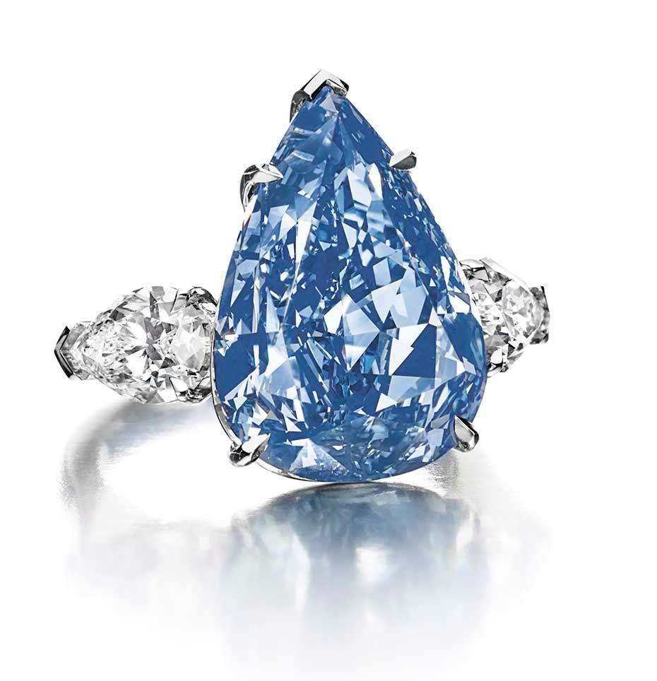 Flawless Fancy Vivid Blue diamond is renamed The Winston Blue and sets a new world record at Christies Geneva | The Jewellery Editor