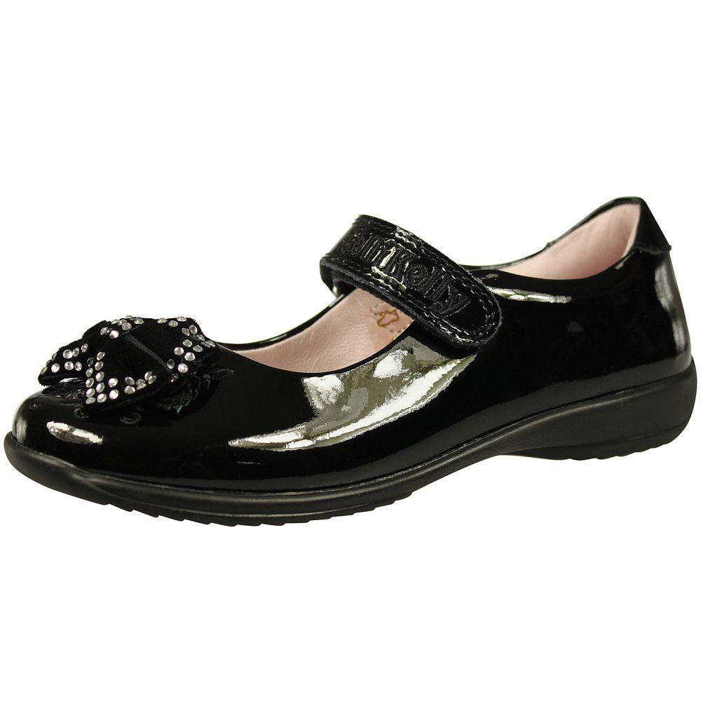 Detachable Bow Shoe Black Patent   Bow