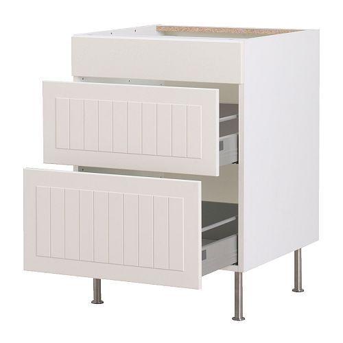 FAKTUM Unterschrank mit 3 Schubladen IKEA Die Schubladen schließen ...