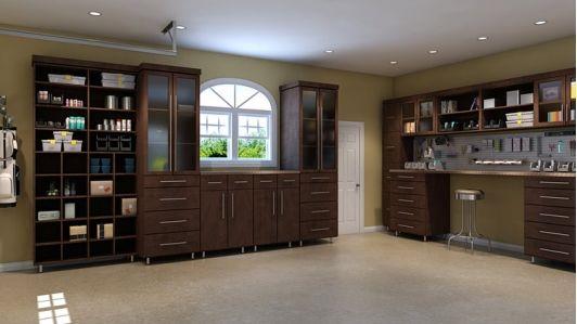 Garage storage - Espresso melamine - Home and Garden Design Ideas ...