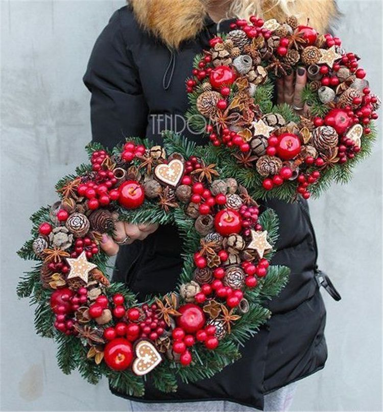 Rustic Natural Fruits Wreath Winter Decoration #latestfashionforwomen