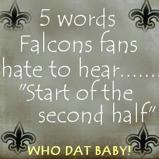Geaux Saints Beat The Falcons