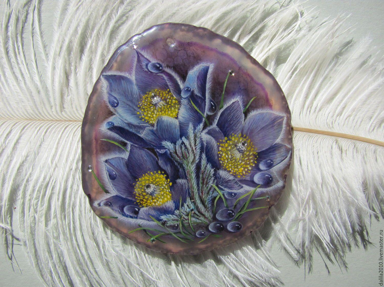 """Купить """"Сон-трава"""" - фиолетовый, весна, сон-трава, прострел, прострел-трава, май"""