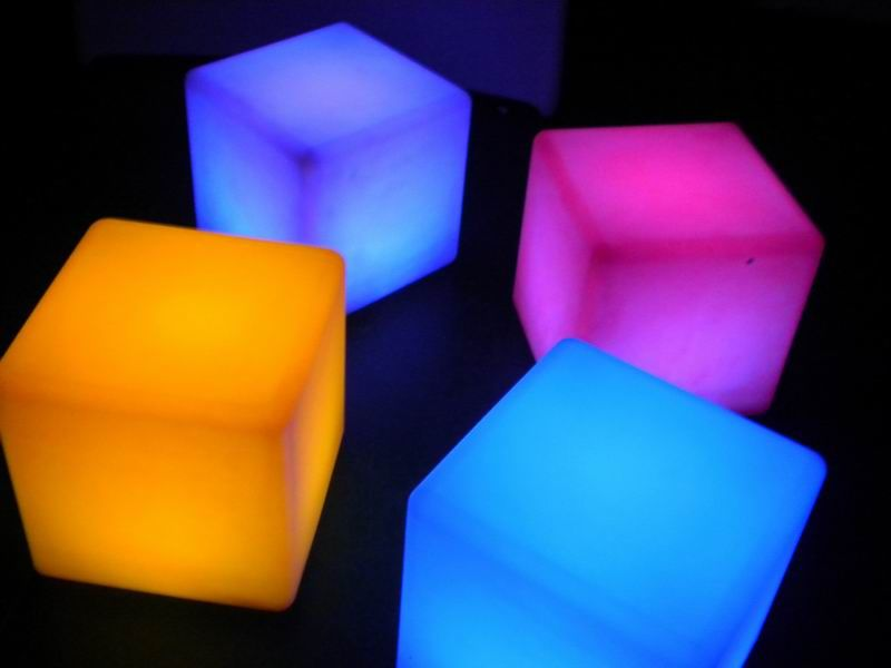 Delightful LED Cube Seats Or Tables For Hire In Cheshire And Manchester